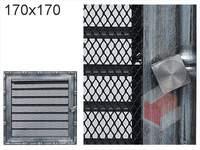 Krbová mřížka Diana stříbrná s žaluzií GZ 170x170