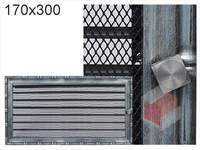 Krbová mřížka Diana stříbrná s žaluzií GZ 170x300