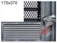Krbová mřížka Diana stříbrná s žaluzií GZ 170x370