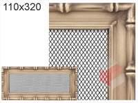 Krbová mřížka Diana zlatá 110x320