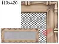Krbová mřížka Diana zlatá 110x420
