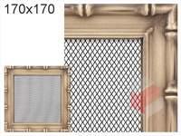 Krbová mřížka Diana zlatá 170x170