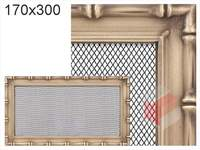 Krbová mřížka Diana zlatá 170x300