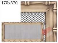 Krbová mřížka Diana zlatá 170x370