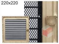 Krbová mřížka Diana zlatá s žaluzií GZ 220x220