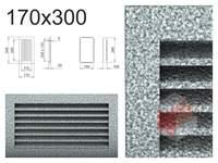 Krbová mřížka černo-stříbrná lamelová 170x300