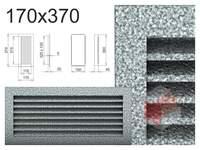 Krbová mřížka černo-stříbrná lamelová 170x370