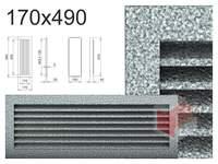 Krbová mřížka černo-stříbrná lamelová 170x490