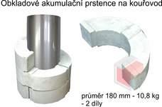 Akumulační prstence na kouřovod průměr 180 mm - 10,8 kg - 2 díly