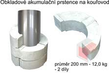 Akumulační prstence na kouřovod průměr 200 mm - 12,0 kg - 2 díly