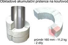 Akumulační prstence na kouřovod průměr 160 mm - 11,2 kg - 2 díly