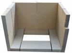 BORGHOLM - sada šamotových cihel - vyzdívka pro krbová kamna