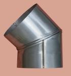 Koleno oblouk otočný dvousegmentový 0-45 stupňů, průměr 150