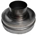 Nerezová převlečná redukce kouřovodu 120 pro šamotový sopouch 20