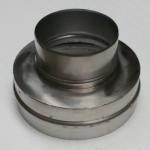 Nerezová převlečná redukce kouřovodu 150 pro šamotový sopouch 20
