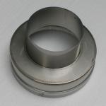 Nerezová převlečná redukce kouřovodu 160 pro šamotový sopouch 20