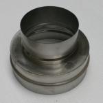 Nerezová převlečná redukce kouřovodu 180 pro šamotový sopouch 20