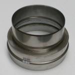 Nerezová převlečná redukce kouřovodu 200 pro šamotový sopouch 20
