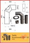Odkouření D150 - Thorma Kouřovod souprava 150 šedá