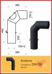 Koleno D150 Thorma s klapkou a čistícím otvorem černá